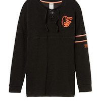 Baltimore Orioles Bling Lace-up Varsity Crew - PINK - Victoria's Secret