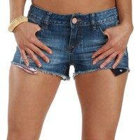 American Girl Peek-a-Boo Denim Shorts