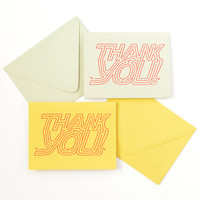 Thank You Maze Greeting Card | Sage or Curry