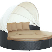 Charlotte Canopy Daybed, Mocha, Outdoor Daybeds