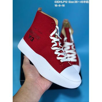 HCXX A315 adidas Y-3 Bashyo High Canvas Casual Skate Shoes Red