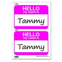 Tammy Hello My Name Is - Sheet of 2 Stickers
