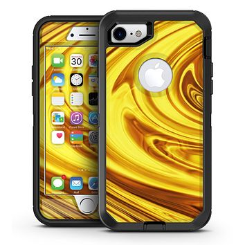 Swirling Liquid Gold  - iPhone 7 or 7 Plus OtterBox Defender Case Skin Decal Kit