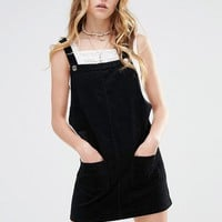 Glamorous Pinnafore Dress With Patch Pockets In Corduroy at asos.com