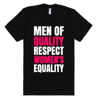 Men Of Quality Respect Women's Equality Dark T-shirt