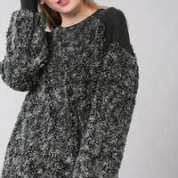 Fantastic Fawn Sherpa Pullover without Zipper in Charcoal