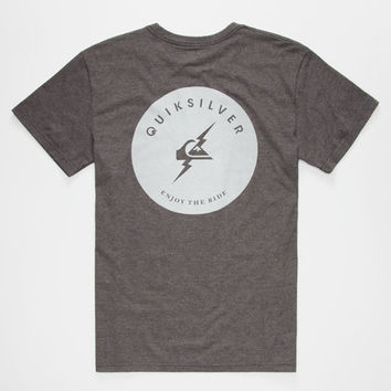 Quiksilver Flash Mens T-Shirt Charcoal  In Sizes