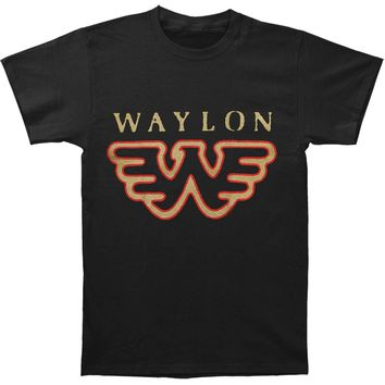 Waylon Jennings Men's  Flying W T-shirt Black