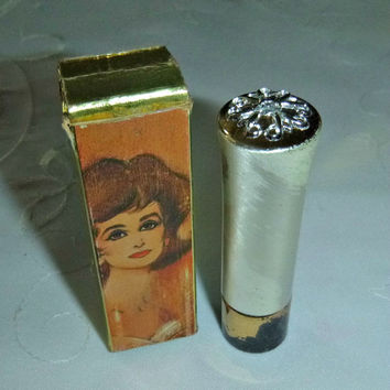 Vintage Avon Mod Lipstick 60's Lipstick Highlight Makeup Collectible Cosmetic Beauty Vanity Display Rare Find Original Box