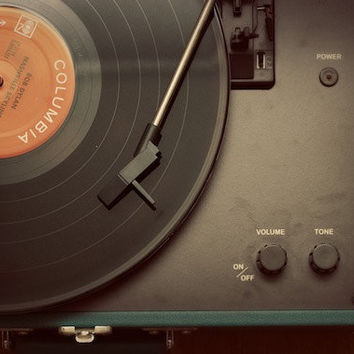 Record Player Fine Art Photograph 8 x 12 by KristinKirkley on Etsy