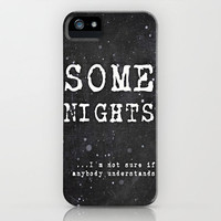 *** Some Nights Lyrics by FUN *** iPhone Case by M✿nika  Strigel	for iPhone 5 + 4S + 4 + 3GS + 3G Hurry Up for X-MAS!!!