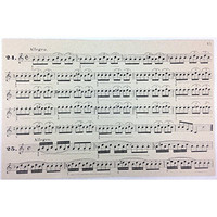 French Paper Dining Placemats - Set of 12 (Allegro Music Notes)
