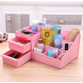 Makeup Organizer Storage Display with Drawers Cosmetic Organizer Cases and Box