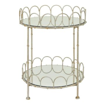 Stylish Two Tier Mirror Table