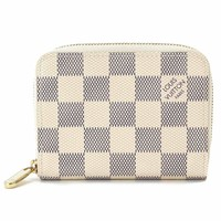 Auth LOUIS VUITTON Damier Azur Canvas Zippy Coin Purse N63069 90040379
