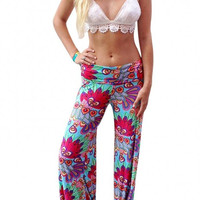 Pink Vintage Floral Straight Trouser
