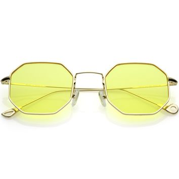 Premium Retro Small Octagon Pantone Lens Sunglasses C493