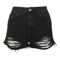 MOTO Ripped Mom Shorts - Topshop