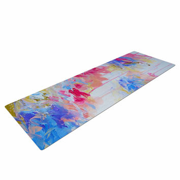 "Ebi Emporium ""Whispered Song 1"" Blue White Yoga Mat"