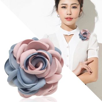 i-Remiel Fabric Flowers Brooches Cloth Art Women High-end Breast Brooch For Suits Lapel Pin Jackets Cardigan Accessories Jewelry