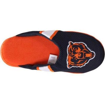 CREYON Men's Chicago Bears NFL Jersey Slippers