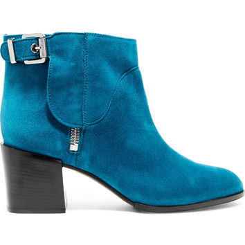 Suede ankle boots | Sergio Rossi | UK | THE OUTNET