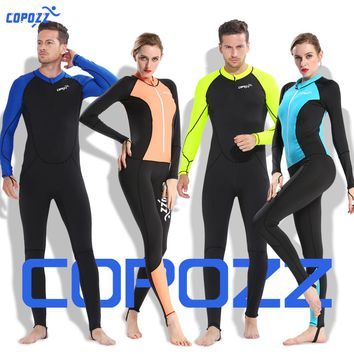 Copozz Full Body Wetsuits Men Women Youth Sun Protection Swimming Suits For Scuba Diving Swimming Surfing Spearfishing One Piece