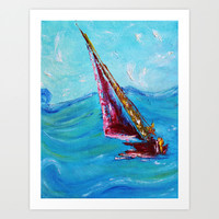 Sail Away First in series Art Print by Liveart4evr