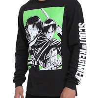 Attack On Titan Eren & Levi Long-Sleeved T-Shirt
