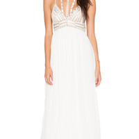 Sacred Geometry Maxi Dress in Ivory Combo