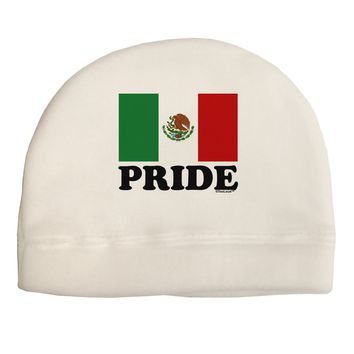 Mexican Pride - Mexican Flag Child Fleece Beanie Cap Hat by TooLoud