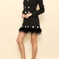 Ruffle My Feathers Blazer Dress