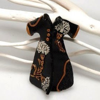Ottoman Caftan (Power Dressing) Brooch in Black