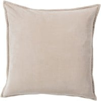 Cotton Velvet Throw Pillow Brown