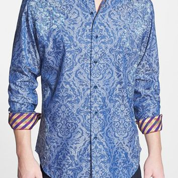 Men's Robert Graham 'Limited Edition - Bickham' Classic Fit Jacquard Sport Shirt,