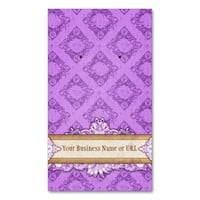 Custom Earring Cards Purple Vintage Display Cards