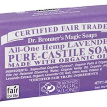 Dr Bronners Magic Soap All One Obla05 5 Oz Lavender Dr. Bronner'S Bar Soap (Pack of 3)