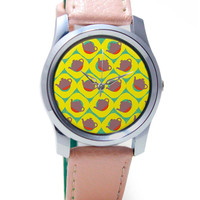 Quirky Teapot Pattern Wrist Watch