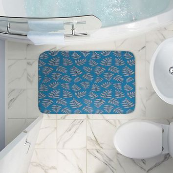 Bathroom Mats By Julia Grifol Kenia Leaves Blues