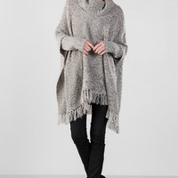 Collins Fringe Poncho Sweater