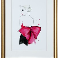 Dior Pink Bow | Figurative & Nudes | Art Themes | Art | Z Gallerie
