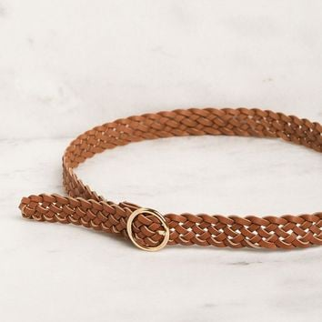 Wanderer Tan Braided Belt