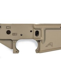 AR15 Stripped Lower Receiver, FDE / Desert - Aero Precision