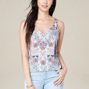 PRINT D-RING STRAPPY TANK