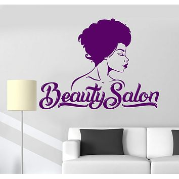 Vinyl Wall Decal Beauty Salon Beautiful Woman Interior Art Stickers Unique Gift (ig4773)