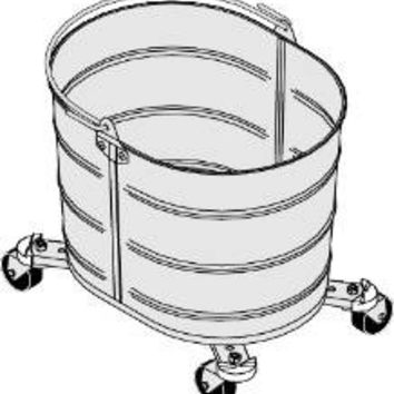 Bucket On Wheels Galvanized, 26 Qt