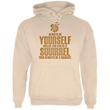 LMFCY8 Always Be Yourself Squirrel Mens Hoodie