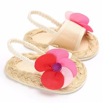 2018 New Crochet Baby shoes Flip flop  Crib Crochet Baby Girls Boys Handmade Knit Sock Clip Toe baby shoes