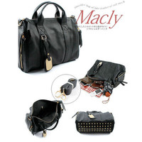 Fashion Studded Rivet Bottom Tote Stud Studed Handbag Studs travel Bag