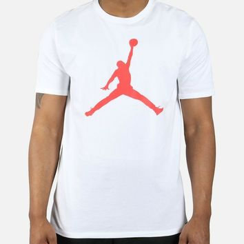 Air Jordan Mens Sportswear Iconic Infrared Jumpman Logo 6 IX T-Shirt 908017-104